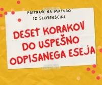 Priprave na maturo iz slovenščine - deset korakov do uspešno odpisanega eseja
